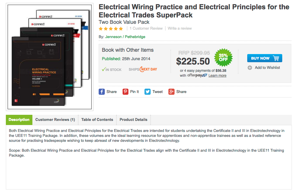 Electrical Wiring Practice and Electrical Principles for the Electrical Trades SuperPack